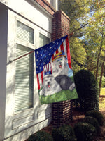 Old English Sheepdog USA Flag Canvas House Size PPP3121CHF
