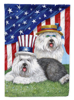 Buy this Old English Sheepdog USA Flag Canvas House Size PPP3121CHF
