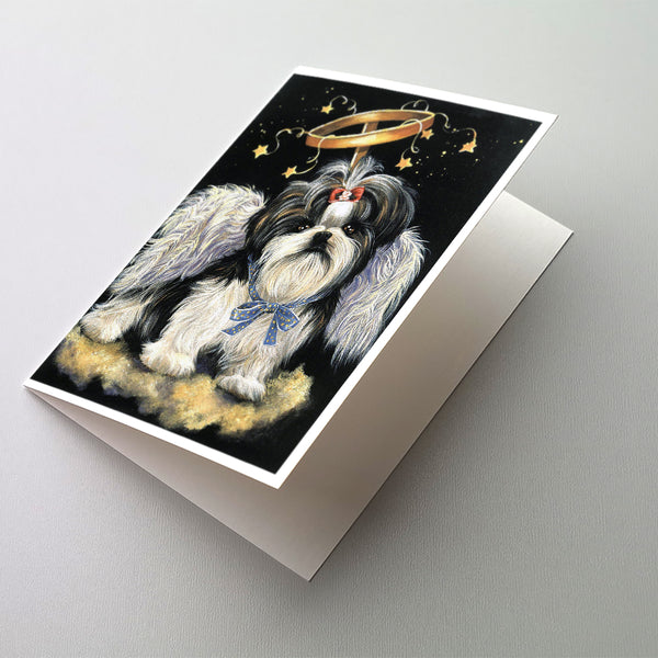 Buy this Shih Tzu Christmas Angel Greeting Cards and Envelopes Pack of 8