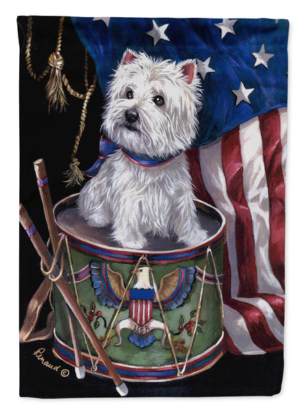 Buy this Westie Little Drummer Boy USA Flag Garden Size PPP3129GF
