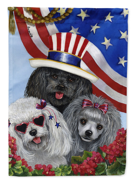 Buy this Poodle USA Flag Canvas House Size PPP3152CHF