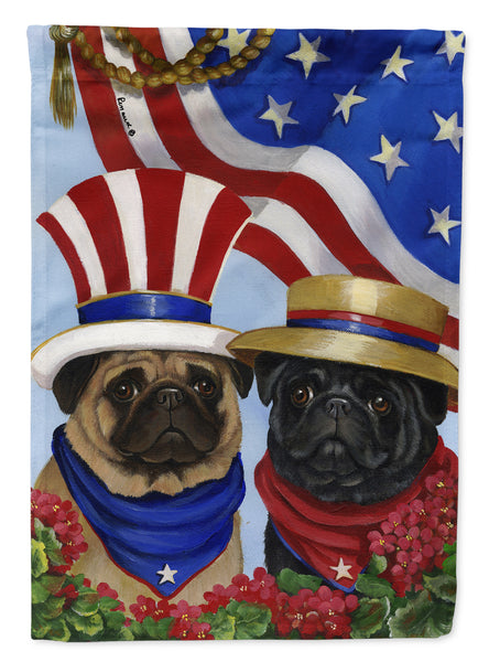 Buy this Pug USA Flag Canvas House Size PPP3154CHF