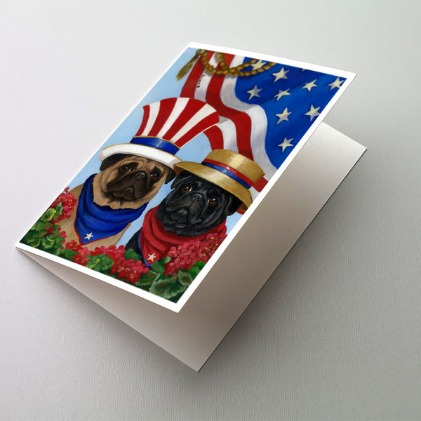 Buy this Pug USA Greeting Cards and Envelopes Pack of 8