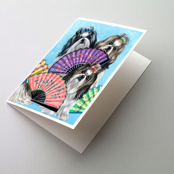 Buy this Shih Tzu Top Fans Greeting Cards and Envelopes Pack of 8