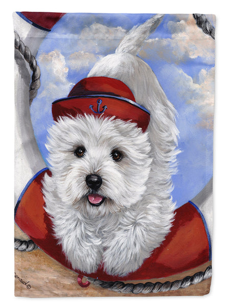 Buy this Westie Ahoy Sailor Flag Garden Size PPP3197GF