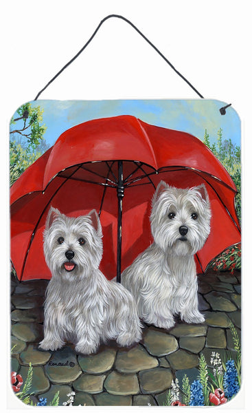 Buy this Westie April Showers Wall or Door Hanging Prints PPP3198DS1216