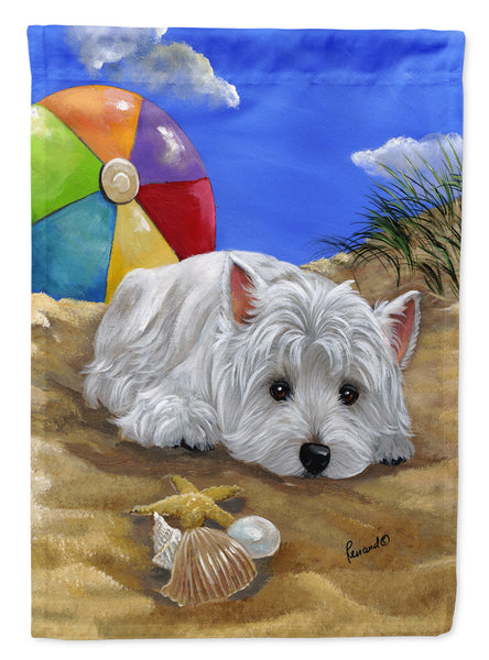 Buy this Westie Beach Baby Flag Garden Size PPP3202GF