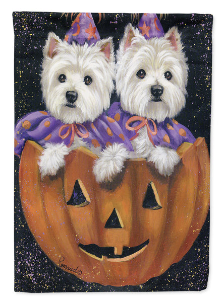 Buy this Westie Halloween Pumpkin Ride Flag Garden Size PPP3205GF