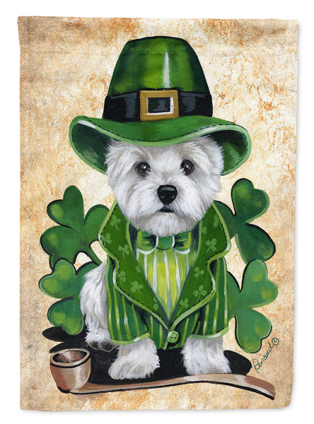 Buy this Westie St Patrick's Day Leprechaun Flag Garden Size PPP3214GF