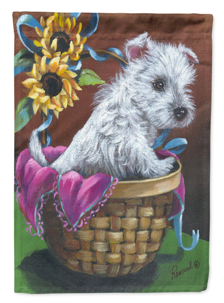 Buy this Westie Zoe and Sunflowers Flag Garden Size PPP3236GF