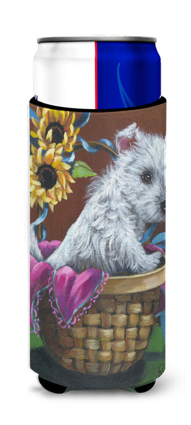 Buy this Westie Zoe and Sunflowers Ultra Hugger for slim cans PPP3236MUK