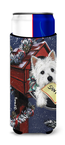 Buy this Westie Zoe's Christmas List Ultra Hugger for slim cans PPP3237MUK