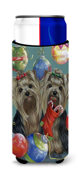 Buy this Yorkie Christmas All that Glitters Ultra Hugger for slim cans PPP3239MUK
