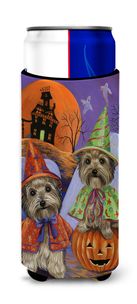 Buy this Yorkie Halloween Haunted House Ultra Hugger for slim cans PPP3241MUK