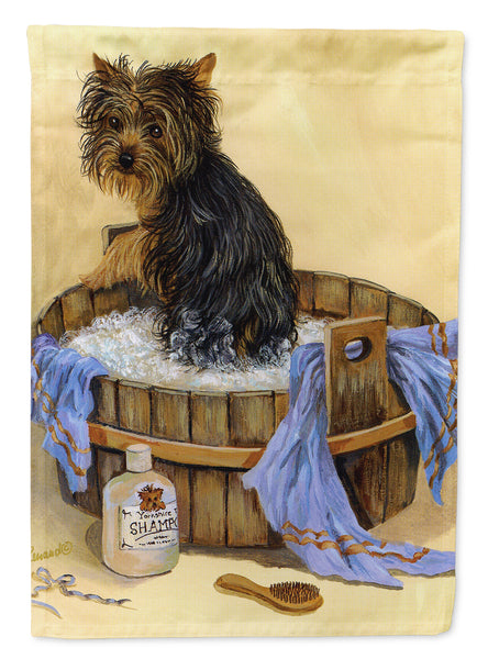 Buy this Yorkie Bath Time Flag Garden Size PPP3244GF