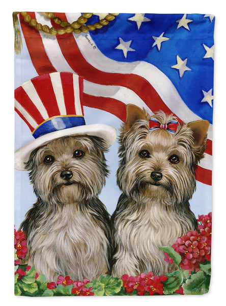 Buy this Yorkie USA Flag Garden Size PPP3245GF