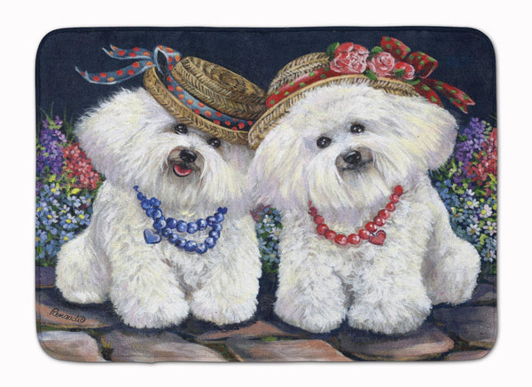 Buy this Bichon Frise Sisters Machine Washable Memory Foam Mat PPP3247RUG