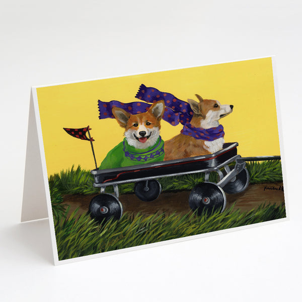 Buy this Corgi Express Greeting Cards and Envelopes Pack of 8
