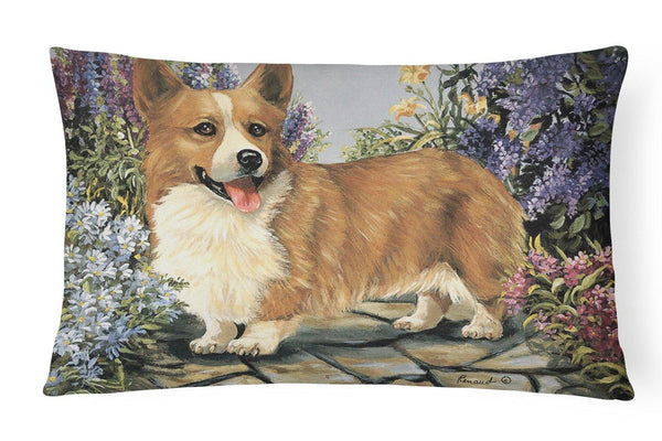 Buy this Corgi Garden Georgi Canvas Fabric Decorative Pillow PPP3258PW1216