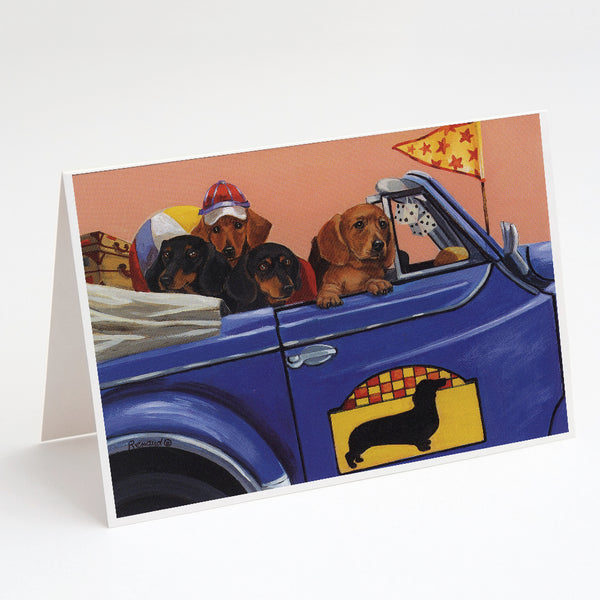 Buy this Dachshund Dachsmobile Greeting Cards and Envelopes Pack of 8