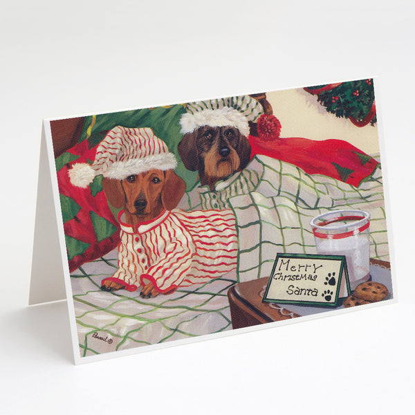 Buy this Dachshund Christmas Waiting for Santa Greeting Cards and Envelopes Pack of 8