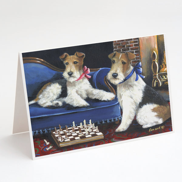 Buy this Fox Terrier Checkmates Greeting Cards and Envelopes Pack of 8