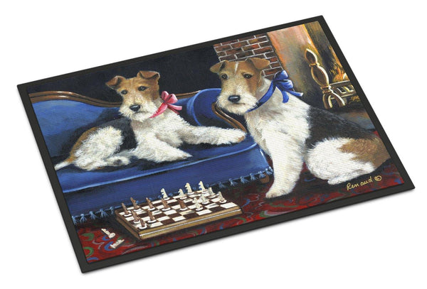 Buy this Fox Terrier Checkmates Indoor or Outdoor Mat 24x36 PPP3261JMAT