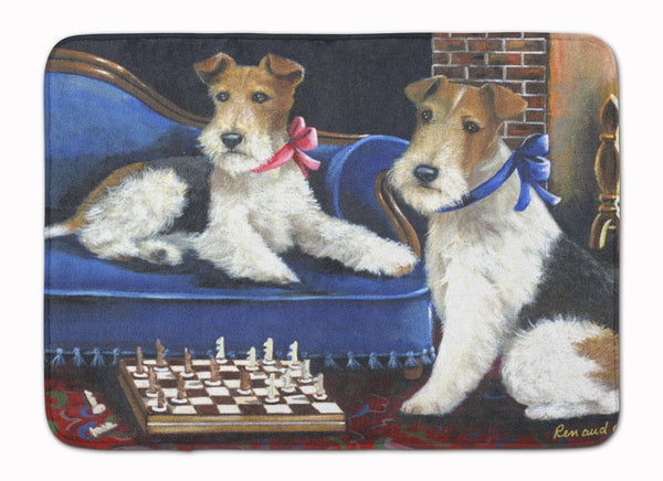 Buy this Fox Terrier Checkmates Machine Washable Memory Foam Mat PPP3261RUG