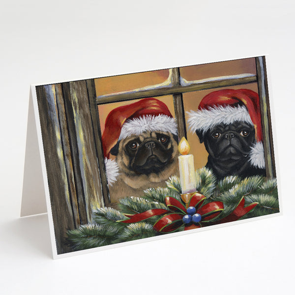 Buy this Pug Christmas Anticipation Greeting Cards and Envelopes Pack of 8