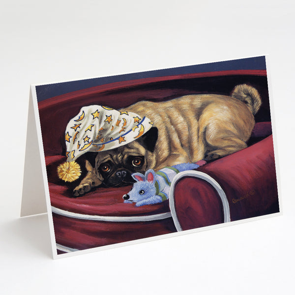 Buy this Pug Goodnight Sweetheart Greeting Cards and Envelopes Pack of 8