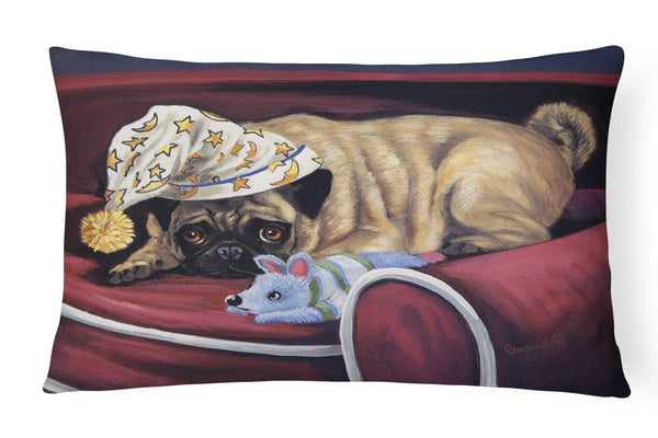 Buy this Pug Goodnight Sweetheart Canvas Fabric Decorative Pillow PPP3269PW1216