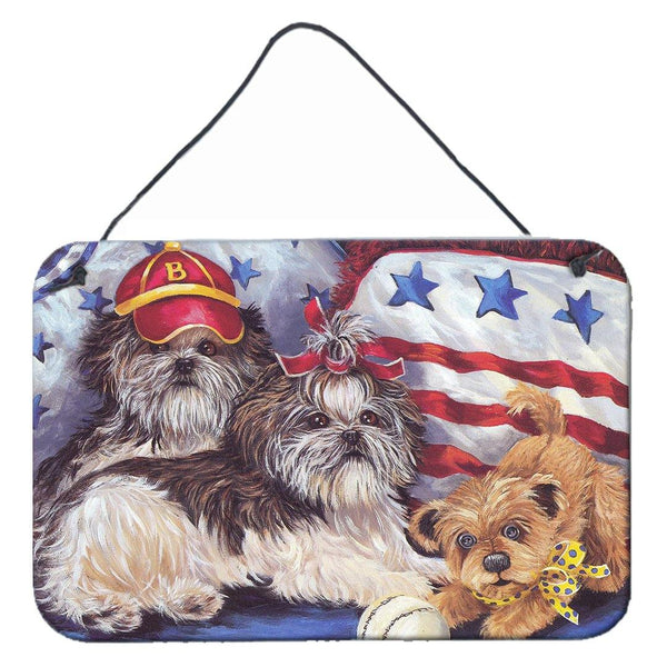 Buy this Shih Tzu Americana Sweethearts Wall or Door Hanging Prints PPP3273DS812