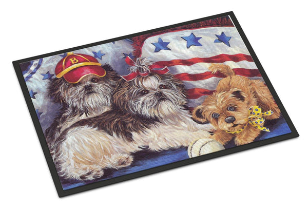 Buy this Shih Tzu Americana Sweethearts Indoor or Outdoor Mat 18x27 PPP3273MAT