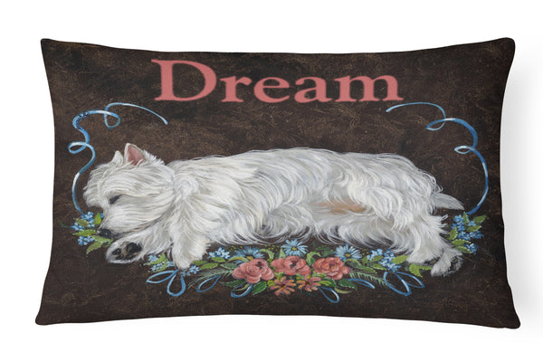 Buy this Westie Dream Canvas Fabric Decorative Pillow PPP3278PW1216