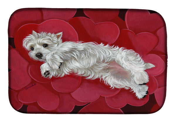 Buy this Westie Queen of Hearts Dish Drying Mat PPP3283DDM