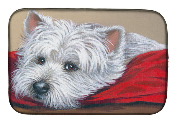 Buy this Westie Red Pillow Dish Drying Mat PPP3284DDM