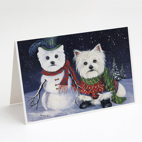 Buy this Westie Christmas Self Portrait Greeting Cards and Envelopes Pack of 8