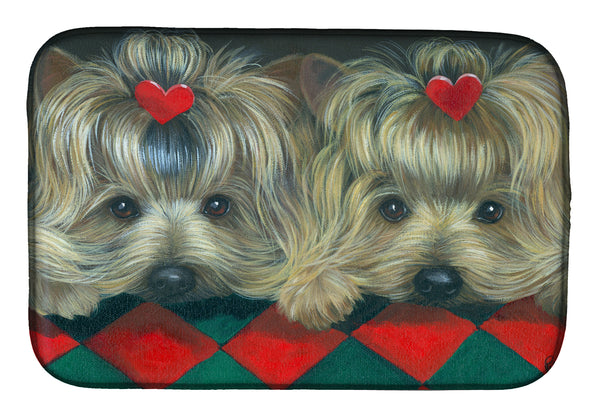 Buy this Yorkshire Terrier Yorkie 2 Hearts Dish Drying Mat PPP3290DDM