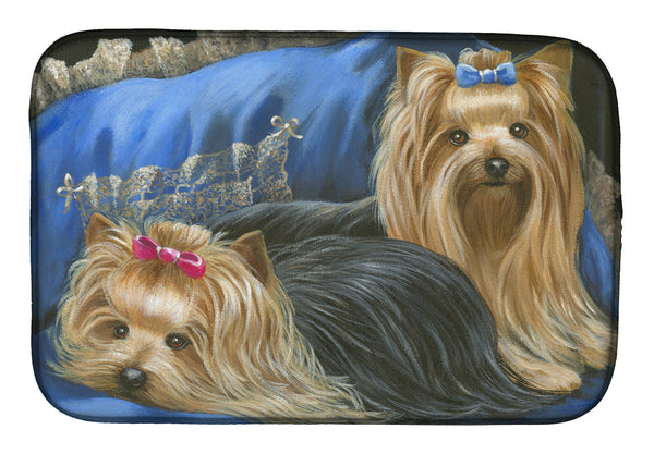 Buy this Yorkshire Terrier Yorkie Satin and Lace Dish Drying Mat PPP3293DDM