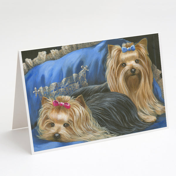 Buy this Yorkshire Terrier Yorkie Satin and Lace Greeting Cards and Envelopes Pack of 8