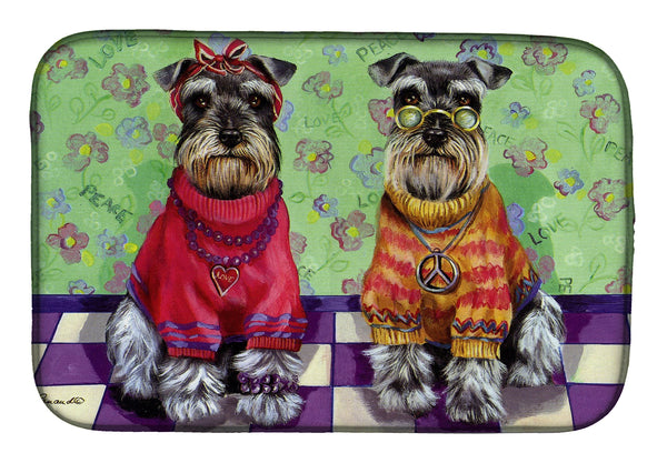 Buy this Schnauzer Love and Peace Dish Drying Mat PPP3333DDM