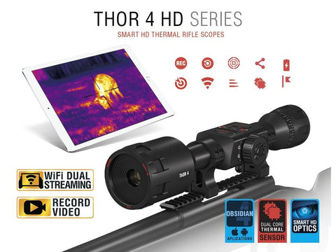 ATN ThOR 4 HD Thermal Rifle Scope 1-10x TIWST4641A Rifle Scope ATN | D&R Sports Center