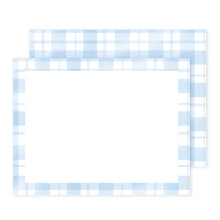 Load image into Gallery viewer, Blue Plaid Notecard Set