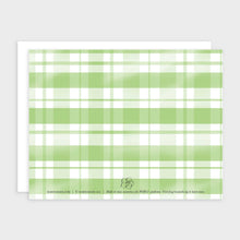 Load image into Gallery viewer, Green Plaid Notecard Set