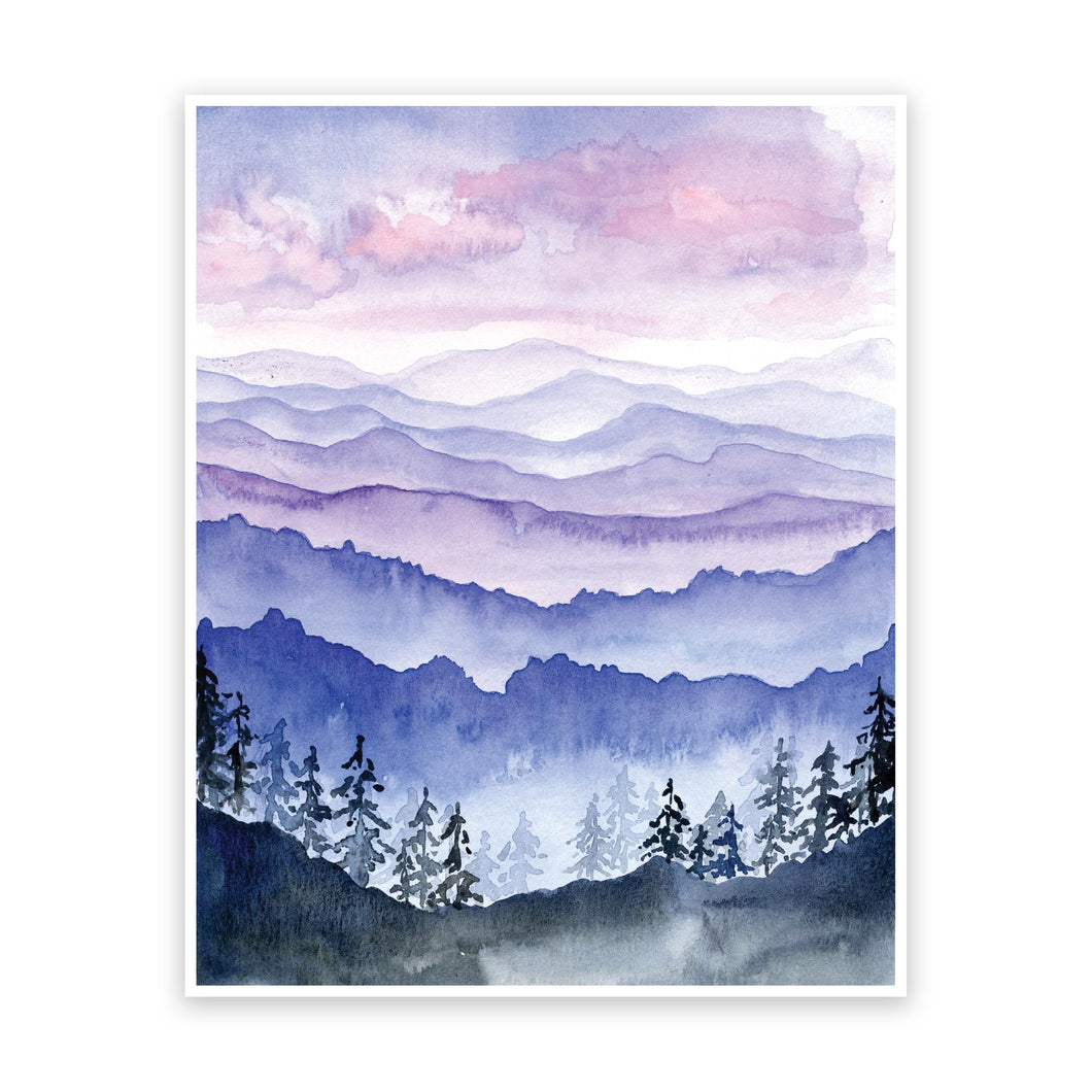 Blue Ridge Mountain Art Print