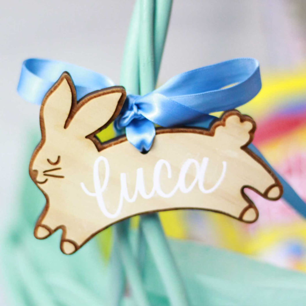 Personalized Easter Bunny Basket Tags