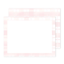 Load image into Gallery viewer, Pink Plaid Notecard Set