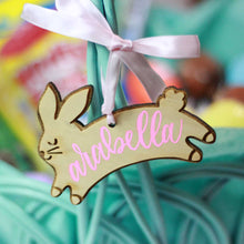 Load image into Gallery viewer, Personalized Easter Bunny Basket Tags
