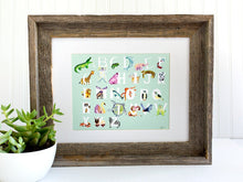 Load image into Gallery viewer, Animal Alphabet Art Print - Mint