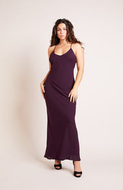 Brooklyn Dress in Blackcurrant
